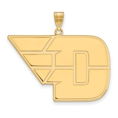 Picture of University of Dayton Flyers Sterling Silver Gold Plated Extra Large Pendant