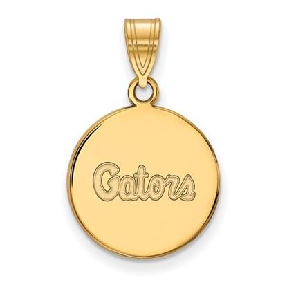 Picture of University of Florida Gators Sterling Silver Gold Plated Medium Disc Pendant