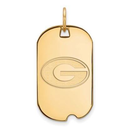 Picture of University of Georgia Bulldogs Sterling Silver Gold Plated Small Dog Tag