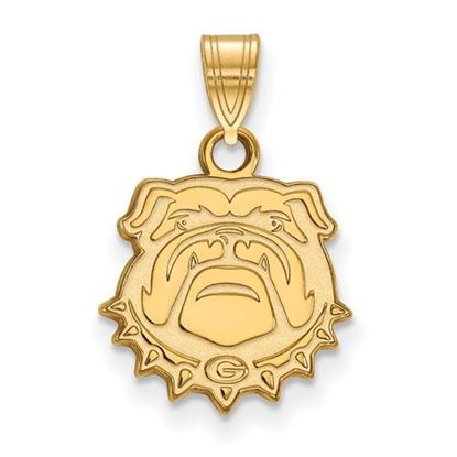 Picture of University of Georgia Bulldogs Sterling Silver Gold Plated Small Pendant