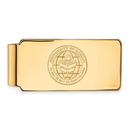 Picture of University of Hawaii Rainbow Warriors Sterling Silver Gold Plated Crest Money Clip