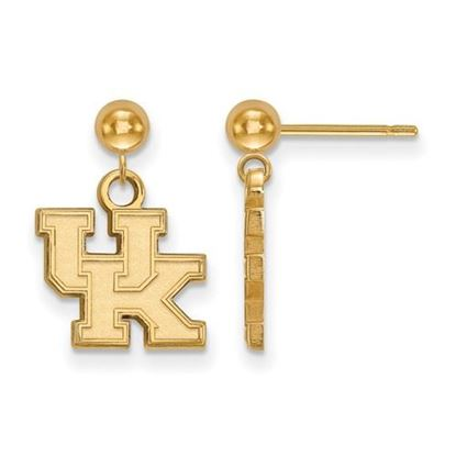 Picture of University of Kentucky Wildcats Sterling Silver Gold Plated Dangle Earrings