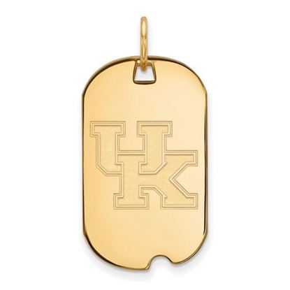 Picture of University of Kentucky Wildcats Sterling Silver Gold Plated Small Dog Tag