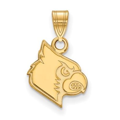 Picture of University of Louisville Cardinals Sterling Silver Gold Plated Small Pendant