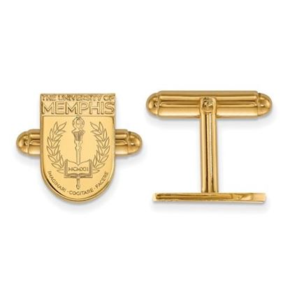 Picture of University of Memphis Tigers Sterling Silver Gold Plated Crest Cuff Links