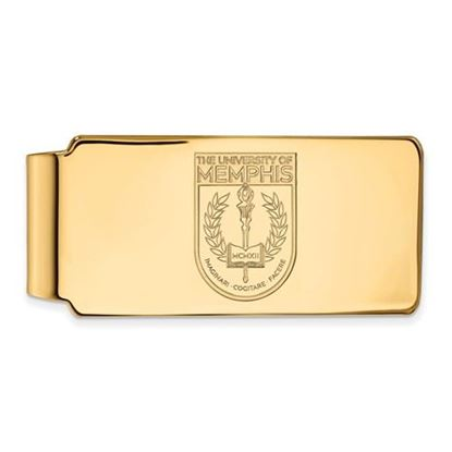 Picture of University of Memphis Tigers Sterling Silver Gold Plated Crest Money Clip