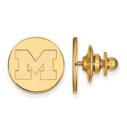 Picture of University of Michigan Wolverines Sterling Silver Gold Plated Lapel Pin