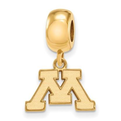 Picture of University of Minnesota Golden Gophers Sterling Silver Gold Plated Extra Small Bead Charm