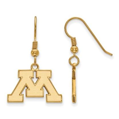Picture of University of Minnesota Golden Gophers Sterling Silver Gold Plated Small Dangle Earrings