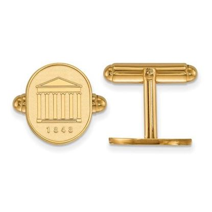 Picture of University of Mississippi Rebels Sterling Silver Gold Plated Crest Cuff Links