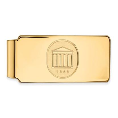 Picture of University of Mississippi Rebels Sterling Silver Gold Plated Crest Money Clip