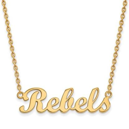 Picture of University of Mississippi Rebels Sterling Silver Gold Plated Small Necklace