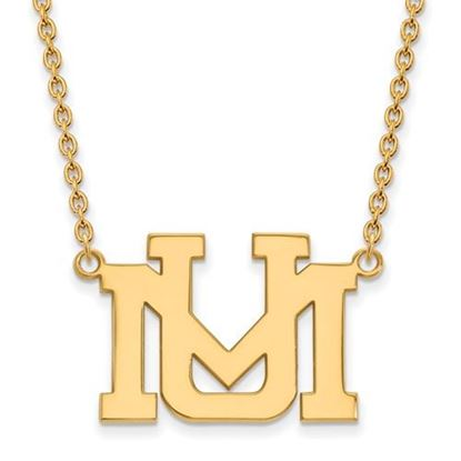 Picture of University of Montana Grizzlies Sterling Silver Gold Plated Large Necklace