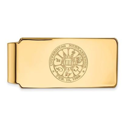 Picture of University of Nebraska Cornhuskers Sterling Silver Gold Plated Crest Money Clip