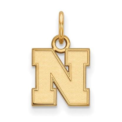 Picture of University of Nebraska Cornhuskers Sterling Silver Gold Plated Extra Small Pendant