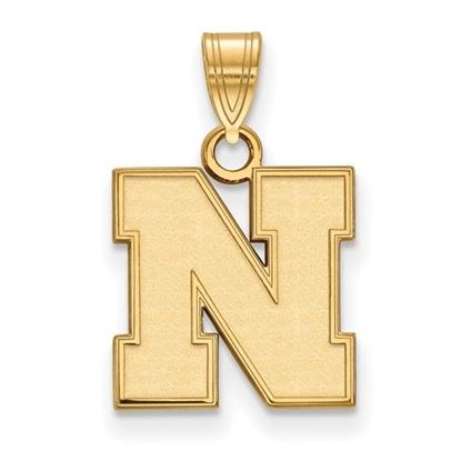 Picture of University of Nebraska Cornhuskers Sterling Silver Gold Plated Small Pendant