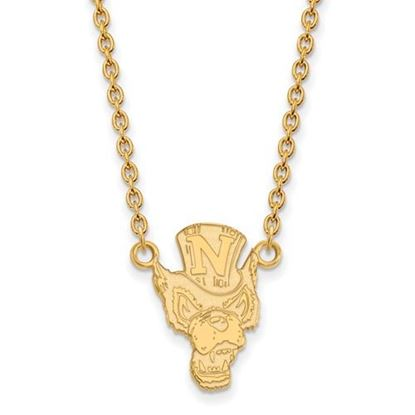 Picture of University of Nevada Wolfpack Sterling Silver Gold Plated Large Necklace