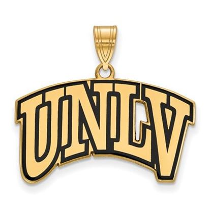 Picture of University of Nevada Las Vegas Rebels Sterling Silver Gold Plated Large Enameled Pendant
