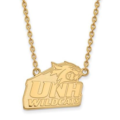Picture of University of New Hampshire Wildcats Sterling Silver Gold Plated Large Necklace