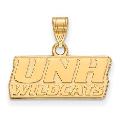 Picture of University of New Hampshire Wildcats Sterling Silver Gold Plated Small Pendant