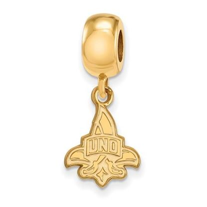 Picture of University of New Orleans Privateers Sterling Silver Gold Plated Small Dangle Bead