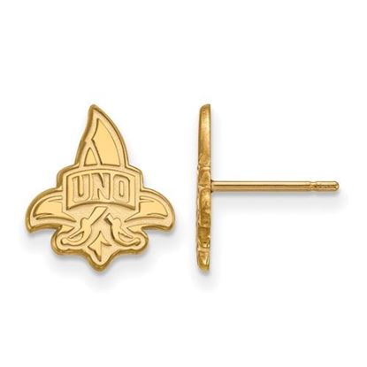 Picture of University of New Orleans Privateers Sterling Silver Gold Plated Small Post Earrings