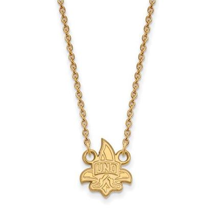 Picture of University of New Orleans Privateers Sterling Silver Gold Plated Small Necklace