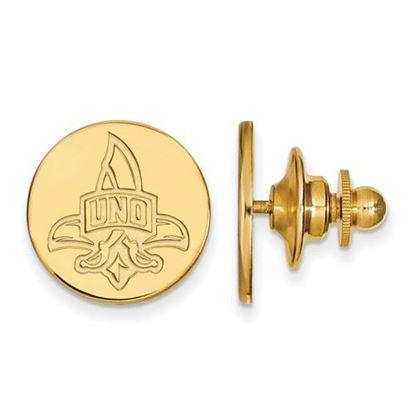 Picture of University of New Orleans Privateers Sterling Silver Gold Plated Lapel Pin