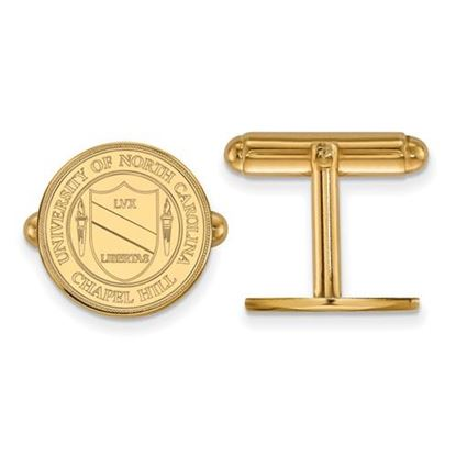 Picture of University of North Carolina Tar Heels Sterling Silver Gold Plated Crest Cuff Links