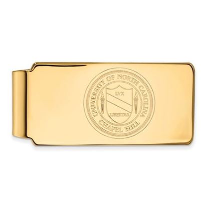 Picture of University of North Carolina Tar Heels Sterling Silver Gold Plated Money Clip Crest