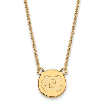 Picture of University of North Carolina Tar Heels Sterling Silver Gold Plated Small Disc Necklace