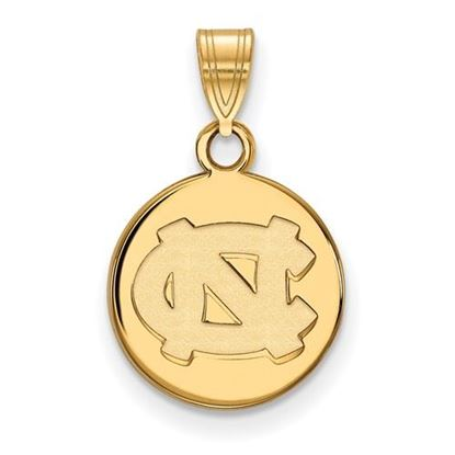 Picture of University of North Carolina Tar Heels Sterling Silver Gold Plated Small Disc Pendant