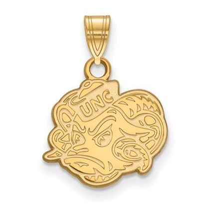 Picture of University of North Carolina Tar Heels Sterling Silver Gold Plated Small Pendant