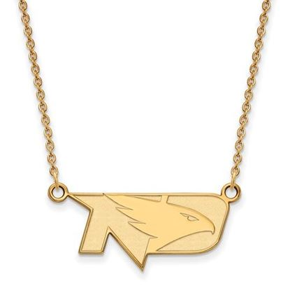 Picture of University of North Dakota Fighting Hawks Sterling Silver Gold Plated Small Necklace