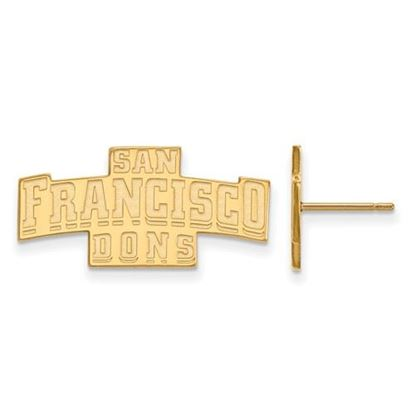 Picture of University of San Francisco Dons Sterling Silver Gold Plated Small Post Earrings