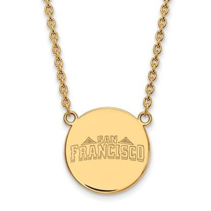 Picture of University of San Francisco Dons Sterling Silver Gold Plated Large Disc Necklace