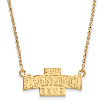 Picture of University of San Francisco Dons Sterling Silver Gold Plated Small Necklace
