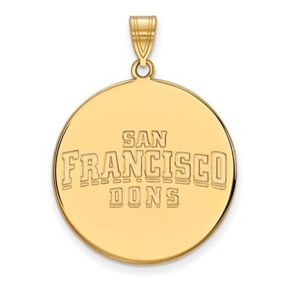 Picture of University of San Francisco Dons Sterling Silver Gold Plated Extra Large Disc Pendant