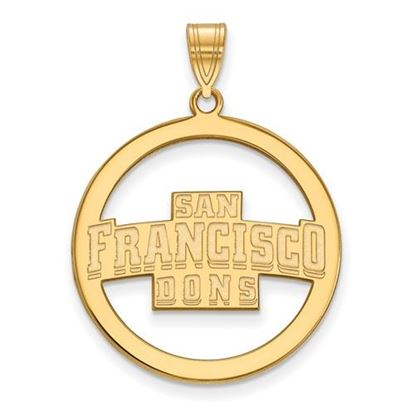 Picture of University of San Francisco Dons Sterling Silver Gold Plated Large Circle Pendant