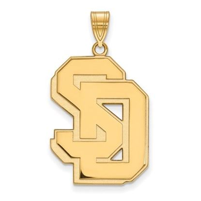 Picture of University of South Dakota Coyotes Sterling Silver Gold Plated Extra Large Pendant