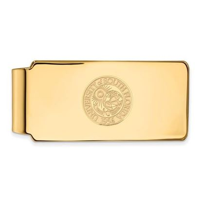 Picture of University of South Florida Bulls Sterling Silver Gold Plated Crest Money Clip