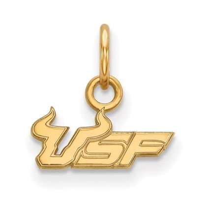 Picture of University of South Florida Bulls Sterling Silver Gold Plated Extra Small Pendant