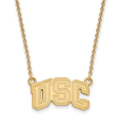 Picture of University of Southern California Trojans Sterling Silver Gold Plated Small Necklace