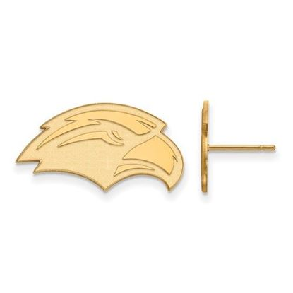 Picture of University of Southern Mississippi Golden Eagles Sterling Silver Gold Plated Small Post Earrings