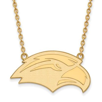 Picture of University of Southern Mississippi Golden Eagles Sterling Silver Gold Plated Large Necklace