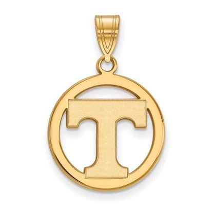 Picture of University of Tennessee Volunteers Sterling Silver Gold Plated Small Circle Pendant