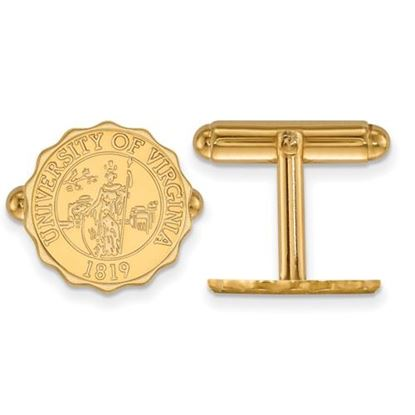 Picture of University of Virginia Cavaliers Sterling Silver Gold Plated Crest Cuff Links