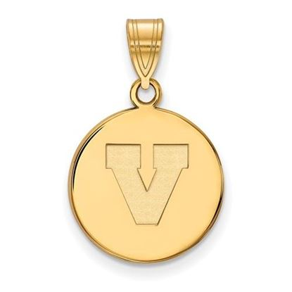 Picture of University of Virginia Cavaliers Sterling Silver Gold Plated Medium Disc Pendant