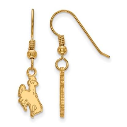 Picture of University of Wyoming Cowboys Sterling Silver Gold Plated Small Dangle Earrings