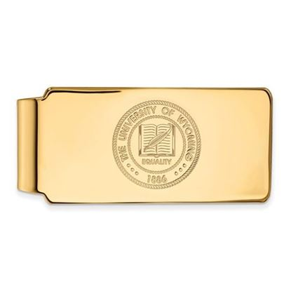 Picture of University of Wyoming Cowboys Sterling Silver Gold Plated Crest Money Clip